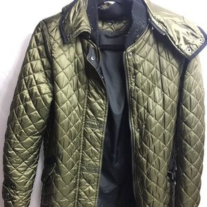 Zara woman's  jacket green quilted look